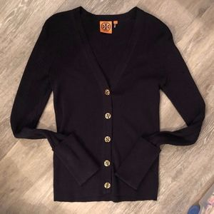 Tory Burch Black  Cardigan Sweater S Small